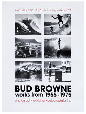 """""""Bud Browne Works from 1955-1975""""  Surf Exhibit Poster"""
