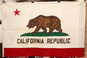 Vintage Cotton California Flag