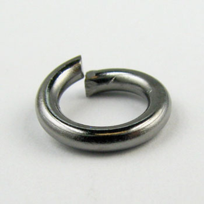 10mm Open Jump Ring, Thick, Gunmetal Plated (pkg of 50)