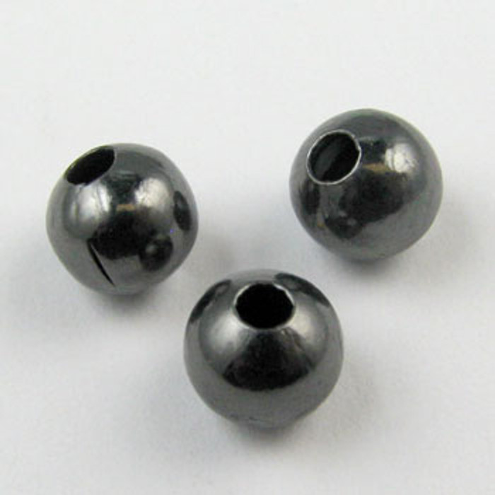 6mm Round Beads, Gunmetal Plated (pkg of 250)