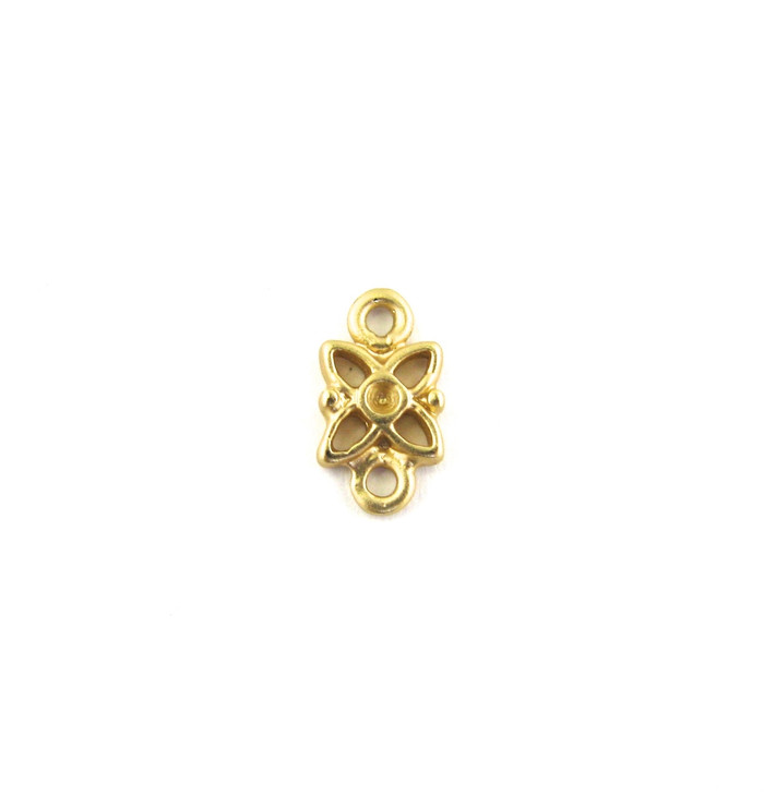 Satin Hamilton Gold 10mm Flower Connector (Sold by the Piece)