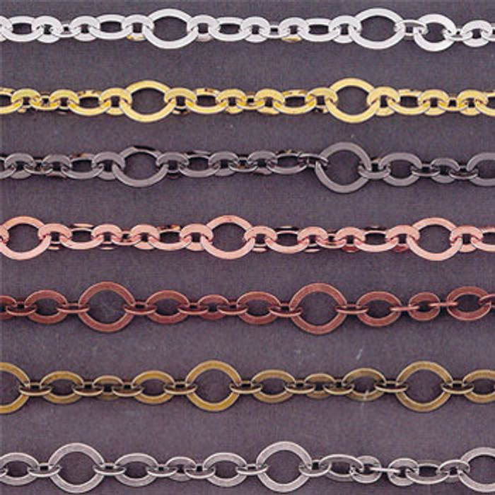 10mm Chain, Electroplated (Antique Brass)