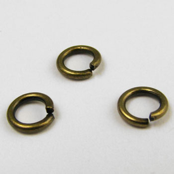 ABP003 - 6mm Open Jump Ring, Antique Brass Plated (pkg of 100)
