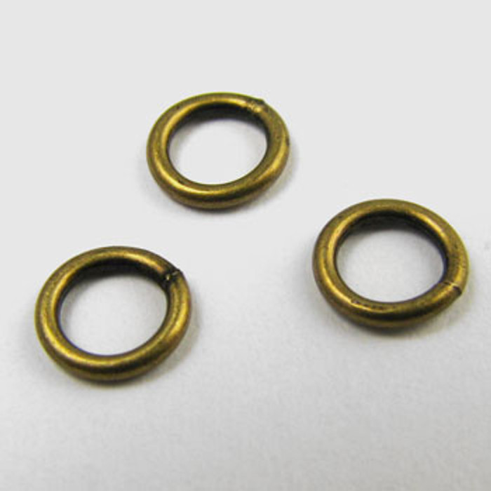 ABP004 - 6mm Closed Jump Ring, Antique Brass Plated (pkg of 50)
