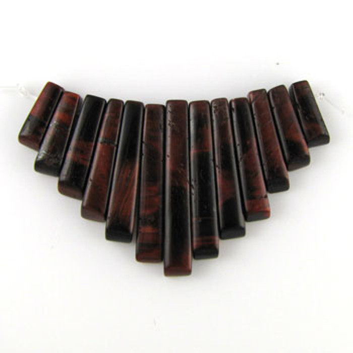 CL0001 - Red Tiger Eye Collar (13 pieces)