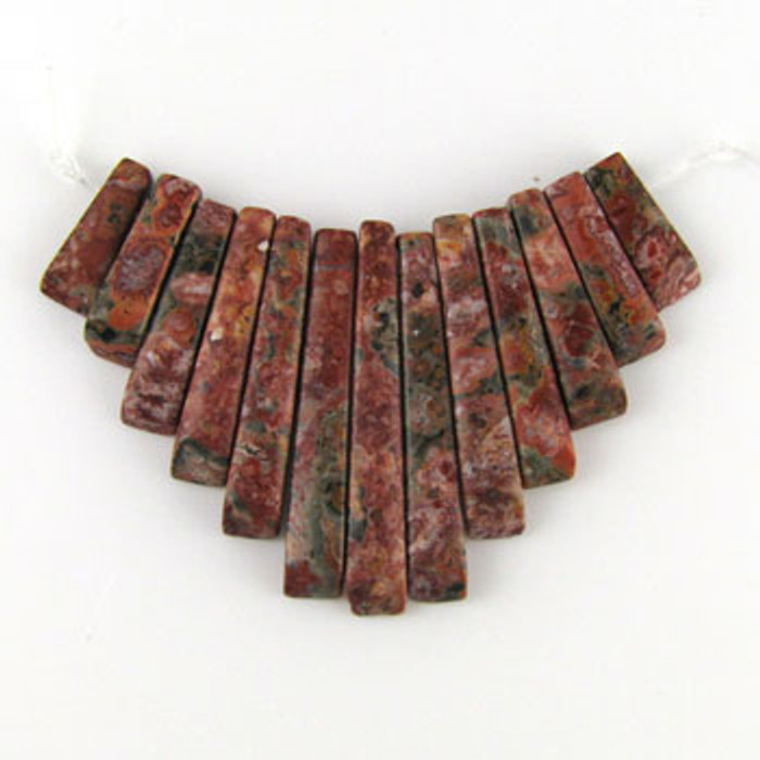 CL0002 - Leopard Skin Jasper Collar (13 pieces)