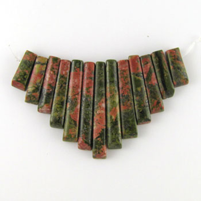 CL0005 - Unakite Collar (13 pieces)