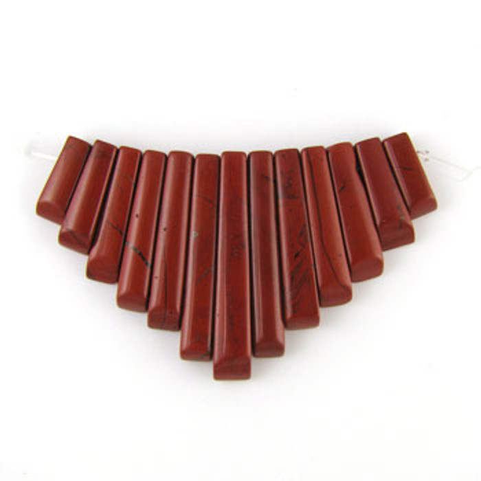 CL0006 - Red Jasper Collar (13 pieces)
