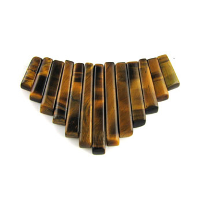 CL0010 - Tiger Eye Collar (13 pieces)
