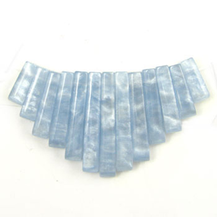 CL0038 - Simulated Blue Lace Agate Collar (13 pieces)