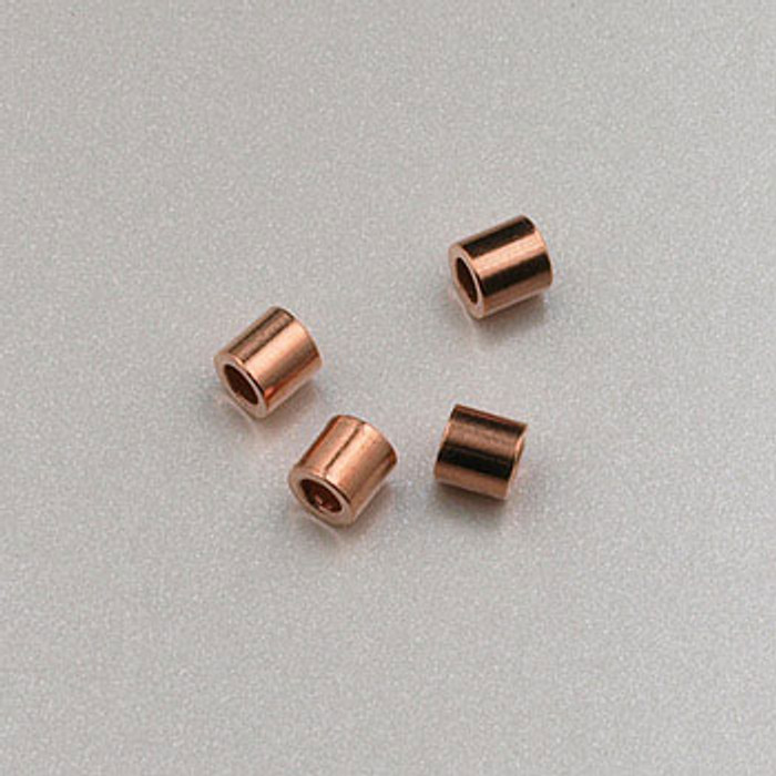 COP0015 - 2x2mm Crimp Tube, Solid Copper (pkg of 100)