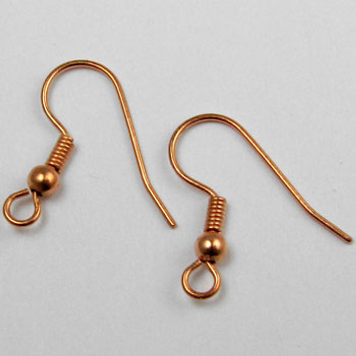 COP0041 - French Ear Wire Earring, Copper Plated (36 pairs)