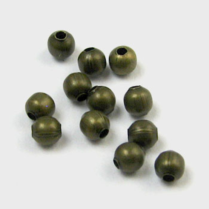 2mm Round Beads, Antique Brass Plated (pkg of 1000)
