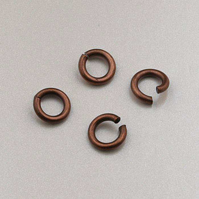 4mm Open Jump Ring, Antique Copper Plated (pkg of 100)