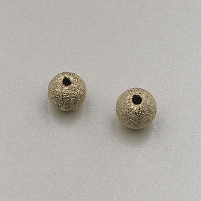 GF0029 - 4mm Round ''Stardust'' Bead, Gold-Fill (pkg of 10)