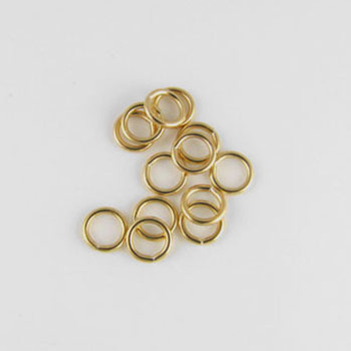 GF0050 - 6mm Closed Jump Ring, Gold-Fill (pkg of 25)