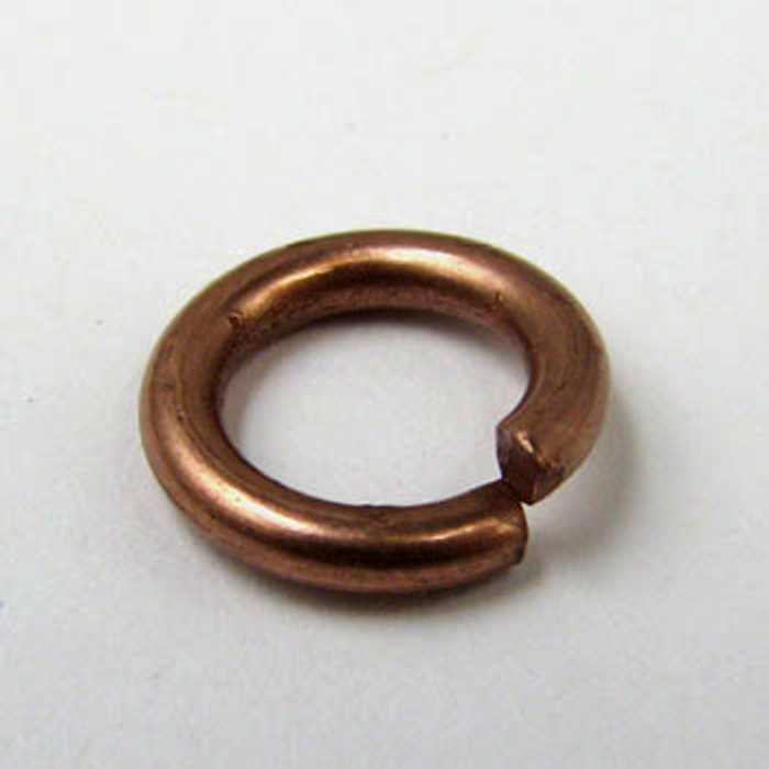 10mm Open Jump Ring, Thick,  Antique Copper Plated (pkg of 50)
