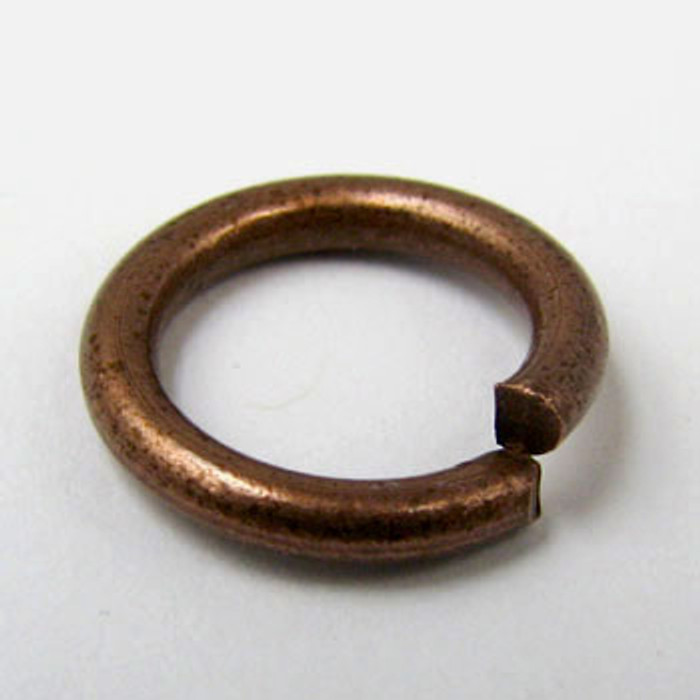 12mm Open Jump Ring, Thick, Antique Copper Plated (pkg of 50)