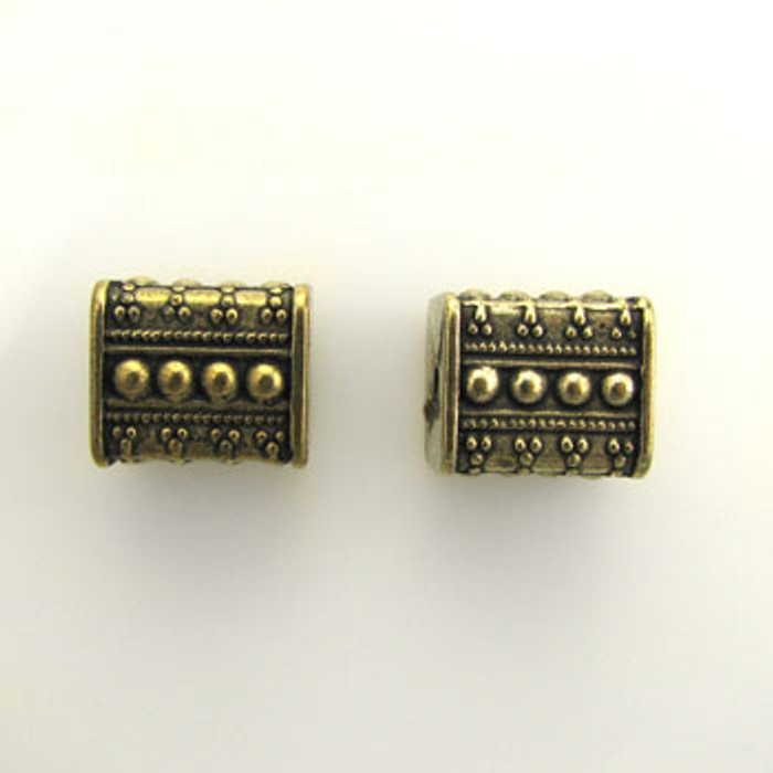 GP0044 - 13x15mm Extra-Large Square, Antique Oxidized Gold Plate (pkg of 10)