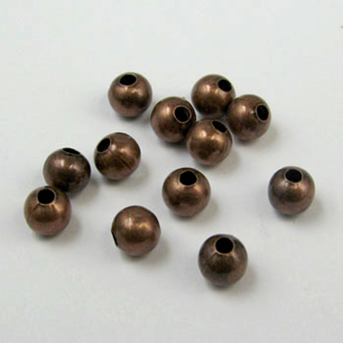 2mm Round Beads, Antique Copper Plated (pkg of 1000)