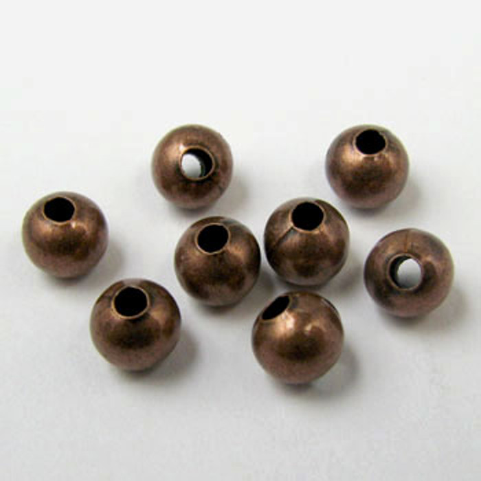 3mm Round Beads, Antique Copper Plated (pkg of 1000)