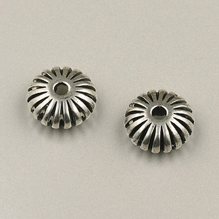 SP0017 - 11mm Carved Tire Silver Plate (pkg of 25)