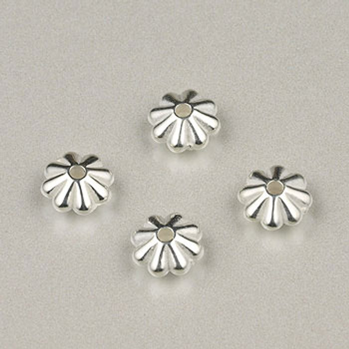 SP0020 - 6mm Daisy, Bright, Silver Plate (pkg of 200)
