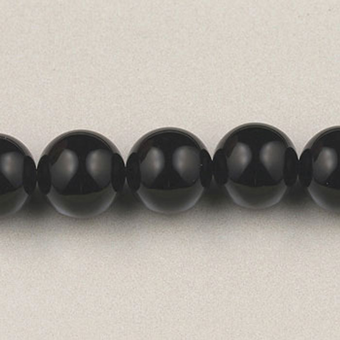 SPS0015 - Black Onyx, 4MM Round (16 in. strand)