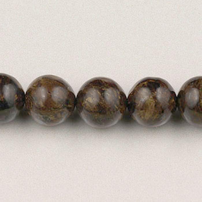 SPS0020 - Bronzite, 4MM Round (16 in. strand)