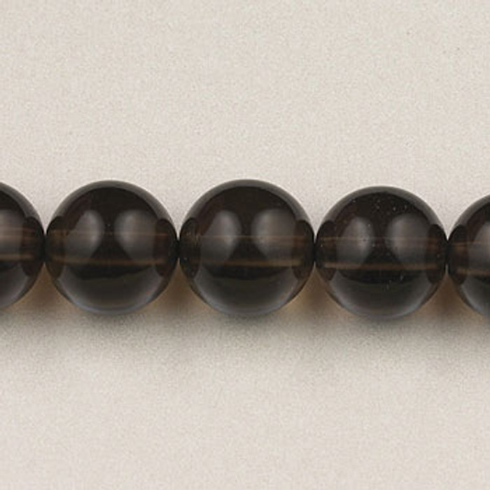 SPS0080 - Smoky Quartz, 4MM Round (16 in. strand)