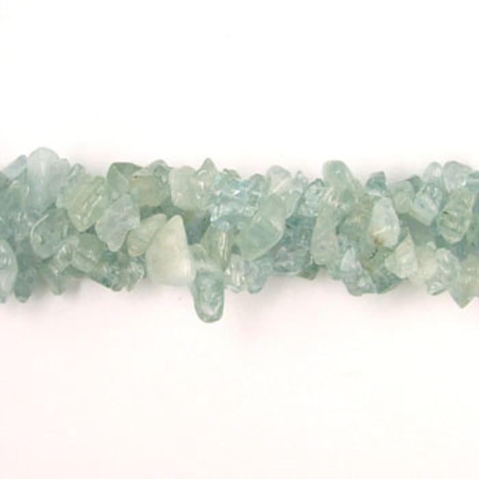 SPSC002 - Aquamarine Semi-Precious Stone Chips (36 in. strand)