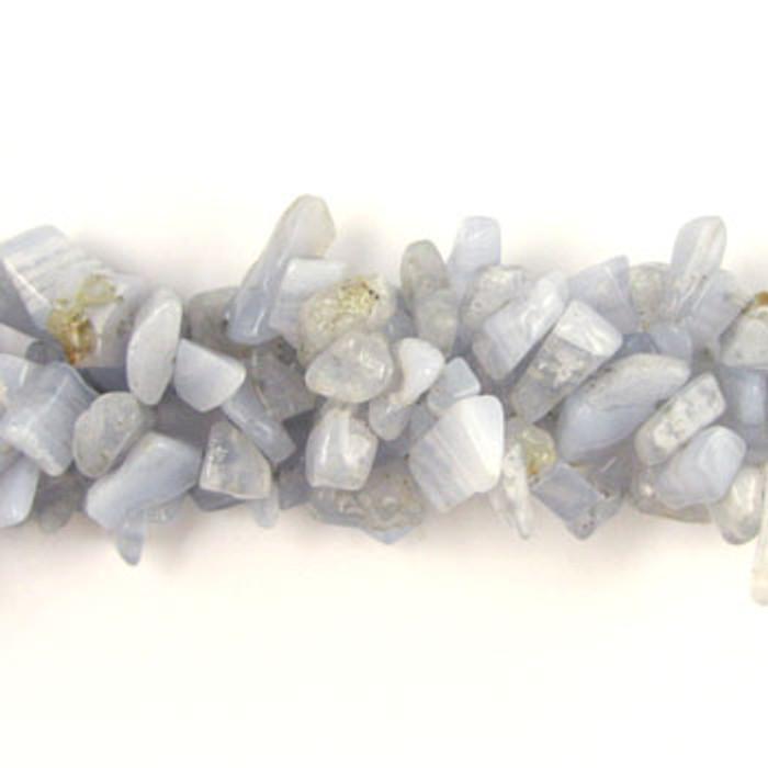 SPSC008 - Blue Lace Agate Semi-Precious Stone Chip Beads (36 in. strand)