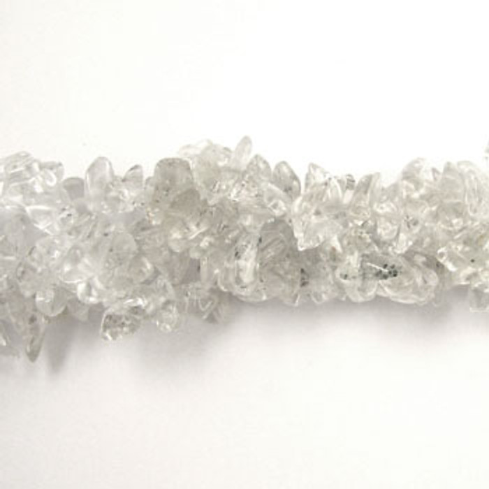 SPSC012 - Crystal Quartz Stone Chip Beads (36 in. strand)