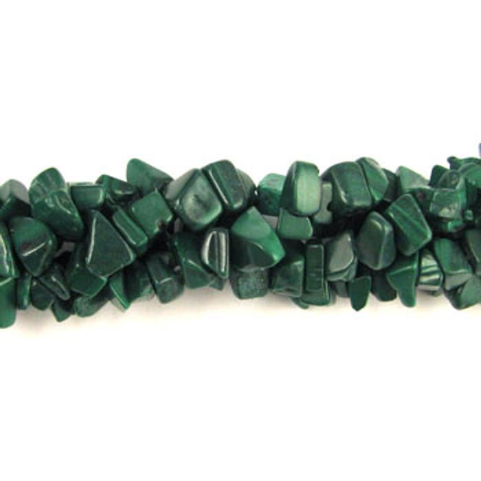 SPSC022 - Malachite Stone Chip Beads (36 in. strand)