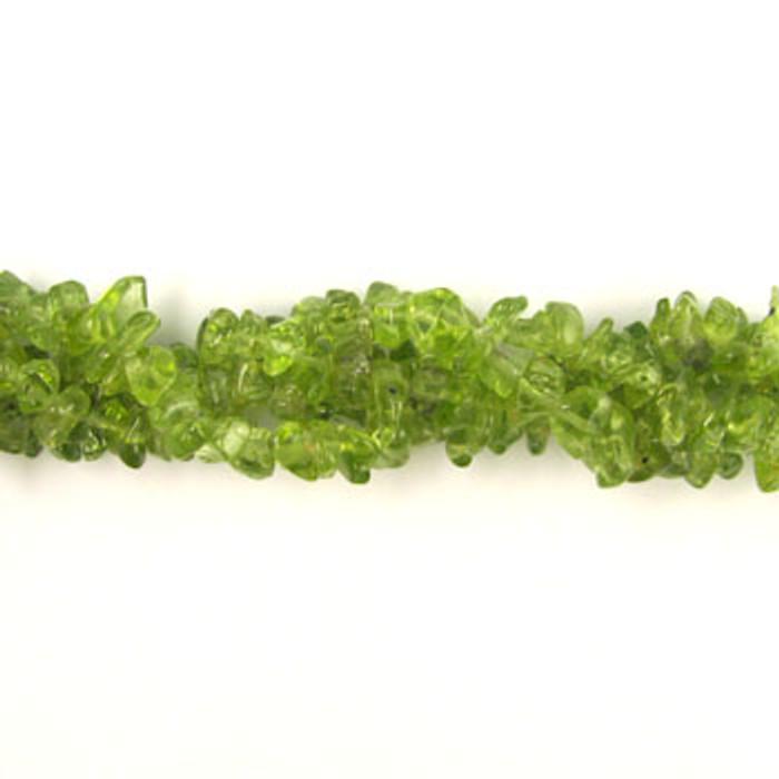 SPSC027 - Peridot Stone Chip Beads (36 in. strand)