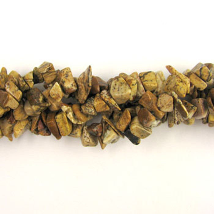 SPSC029 - Picture Jasper Stone Chip Beads (36 in. strand)
