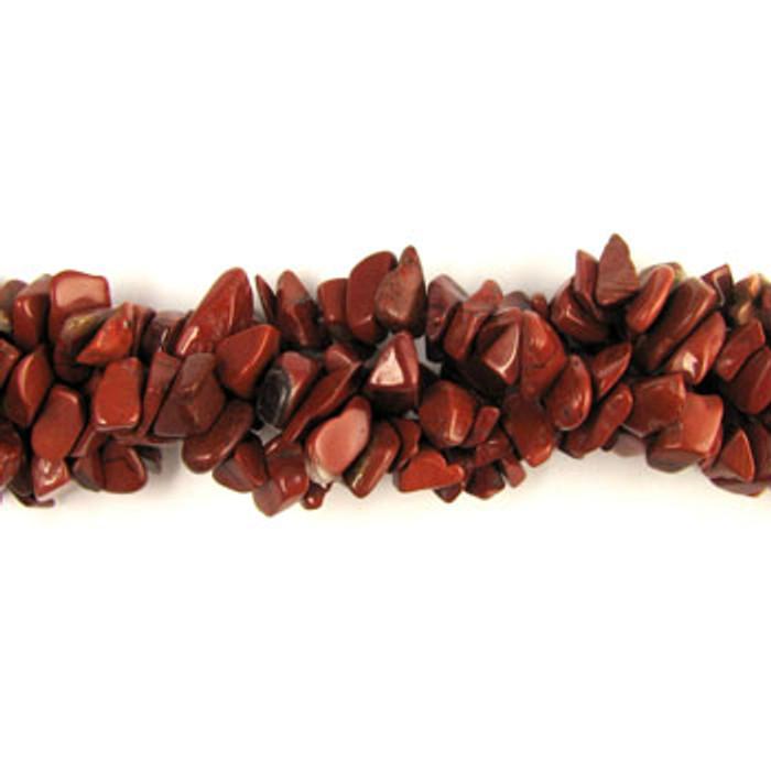 SPSC032 - Red Jasper Semi-Precious Stone Chip Beads (36 in. strand)