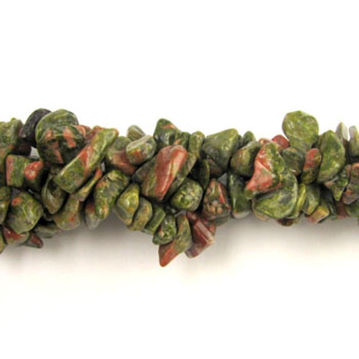 SPSC044 - Unakite Stone Chip Beads (36 in. strand)