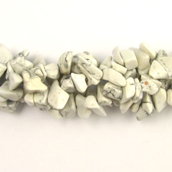 SPSC045 - White Howlite Stone Chip Beads (36 in. strand)