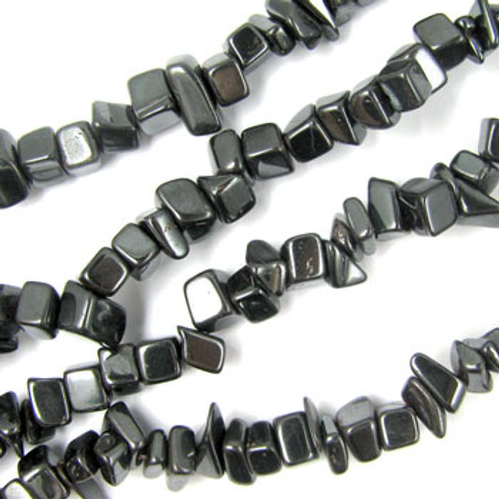 SPSC047 - Hematite Stone Chip Beads (36 in. strand)