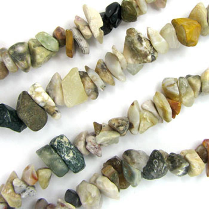SPSC049 - Ocean Jasper Stone Chip Beads (36 in. strand)