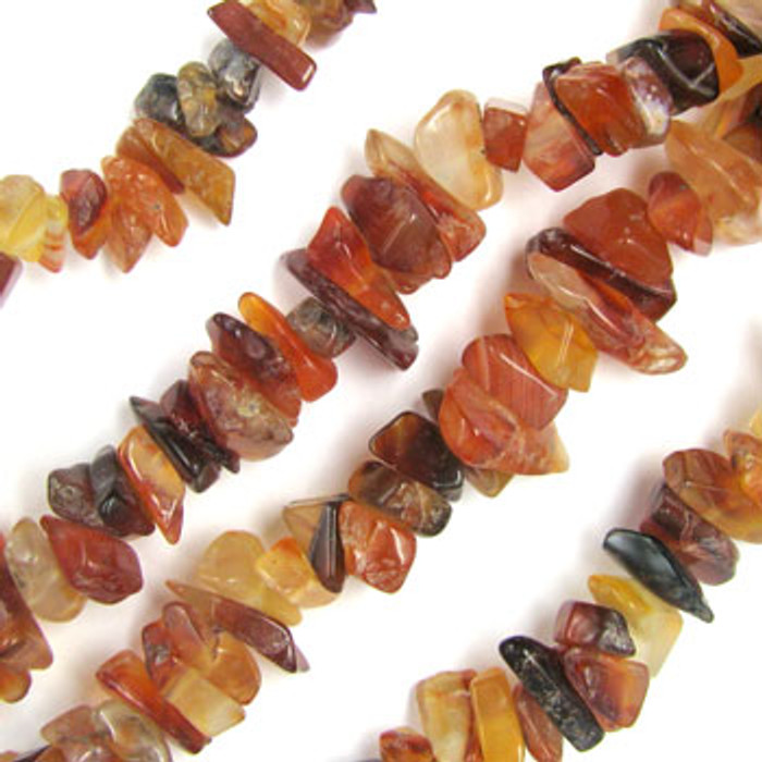 SPSC050 - Carnelian Agate Stone Chip Beads (36 in. strand)