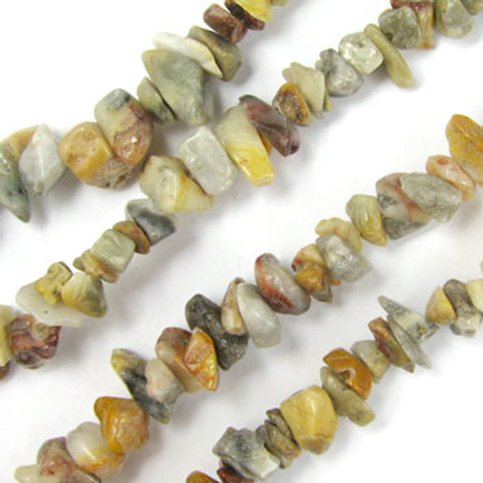 SPSC051 - Crazy Lace Agate Stone Chip Beads (36 in. strand)