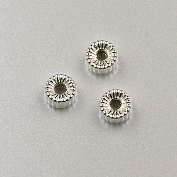 SS0028 - 4mm Corrugated Tire, Sterling Silver (pkg of 25)
