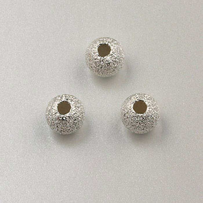 SS0032 - 5mm Stardust Round, Sterling Silver (pkg of 10)