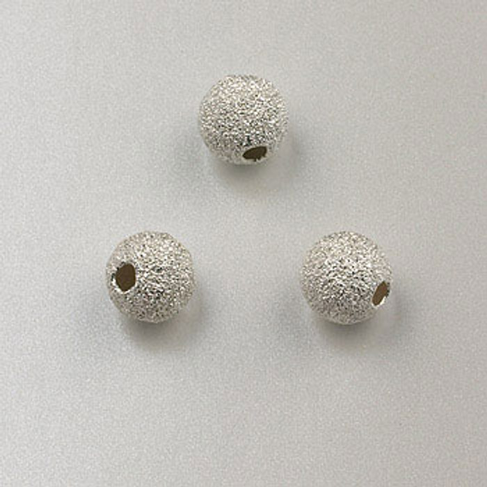SS0033 - 6mm Stardust Round, Sterling Silver (pkg of 5)