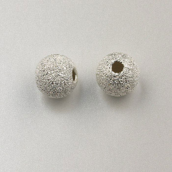 SS0035 - 8mm Stardust Round, Sterling Silver (pkg of 5)