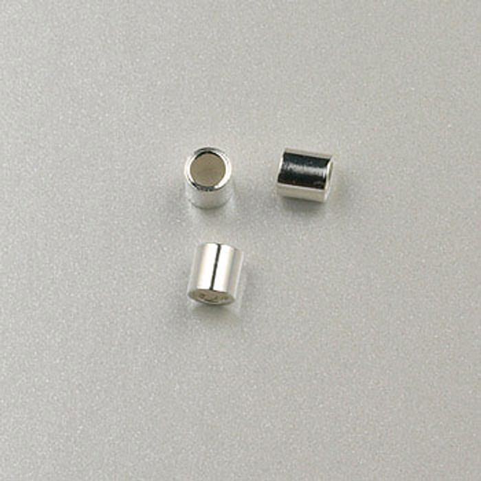 SS0040 - 1.5x1.5mm Crimp, Sterling Silver (pkg of 50)