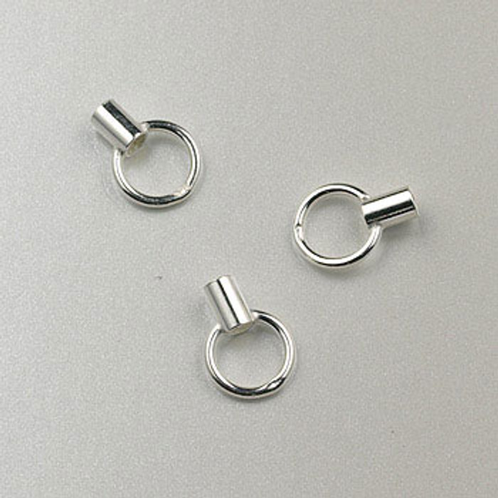 SS0048 - Crimp with Eye, Sterling Silver (pkg of 24)