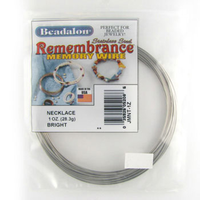 STR0048 - Bright, Necklace, Beadalon Remembrance Memory Wire (JMNT01Z) (1 oz)